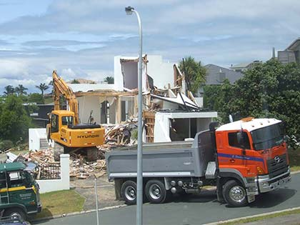 House Demolition in Gulf Harbour 1