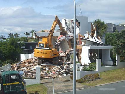 House Demolition in Gulf Harbour 2